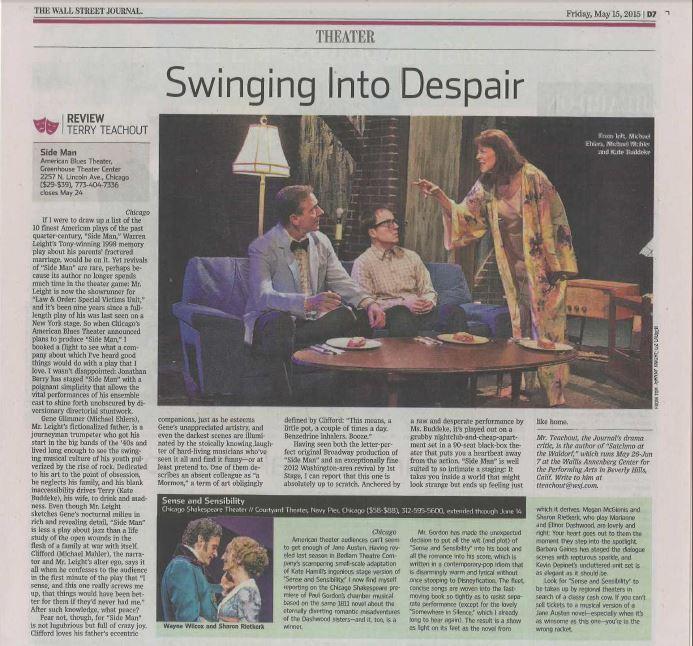 Sideman Featured in Wall Street Journal
