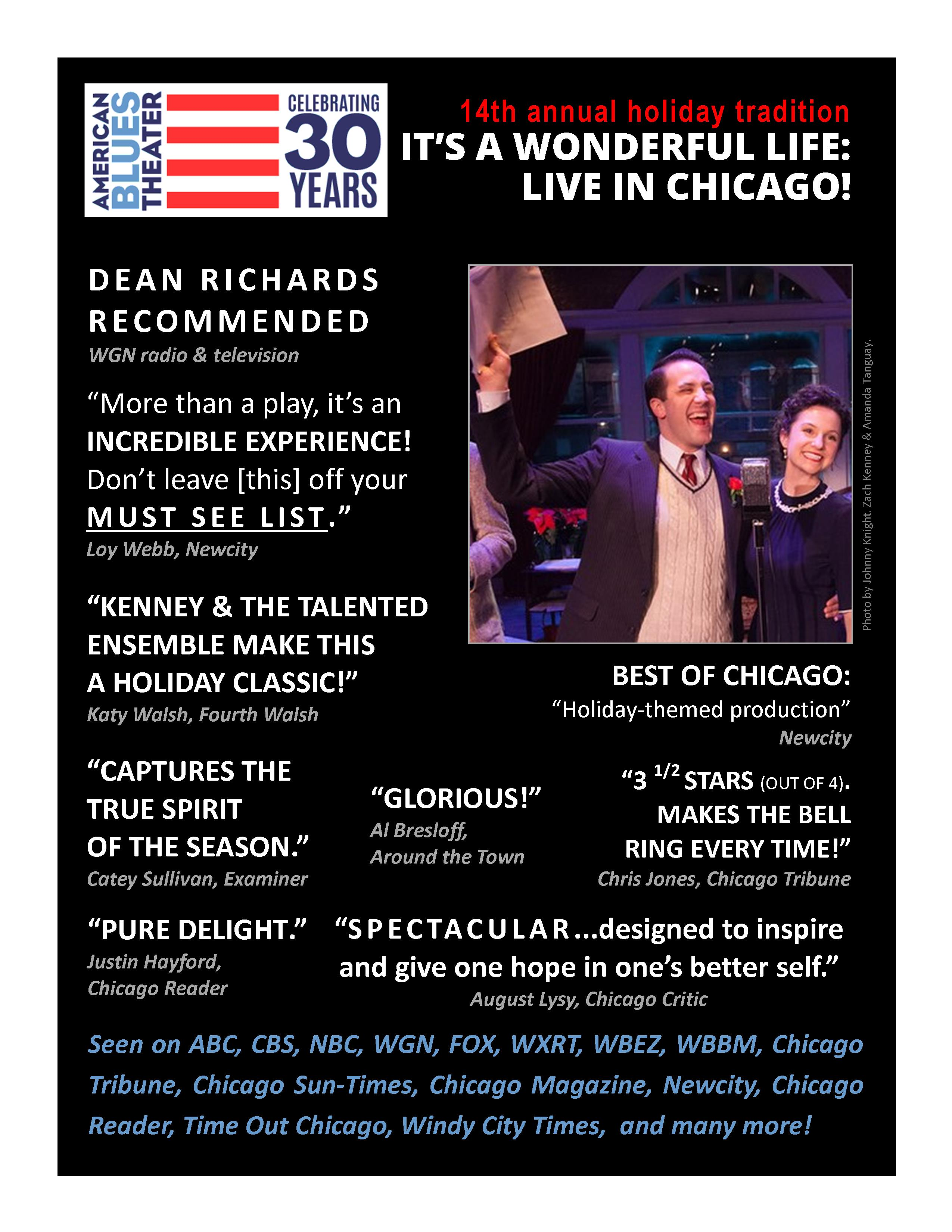 Rave Reviews For It 39 S A Wonderful Life Live In Chicago American Blues Theater
